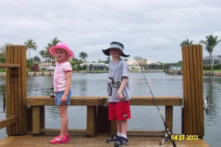 Marco Island Kids Fishing from Dock